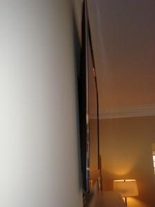 Flat Panel TV Mounted on Fireplace