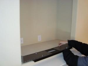 Setting up the SlydLock Fireplace TV Mount bracket